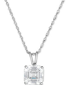 "Arabella Swarovski Zirconia 18"" Pendant Necklace in 14K White Gold"