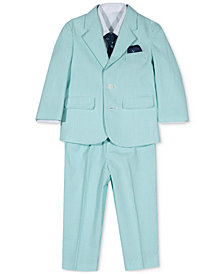 Nautica 4-Pc. Shirt, Seersucker Suit & Necktie Set, Baby Boys