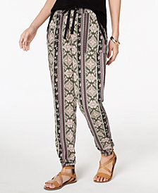 Hippie Rose Juniors' Ruched Jogger Pants