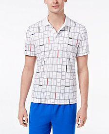 Lacoste Men's Super Light Geo-Print Sport Polo