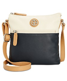 Giani Bernini Colorblock Nappa Leather Crossbody, Created for Macy's