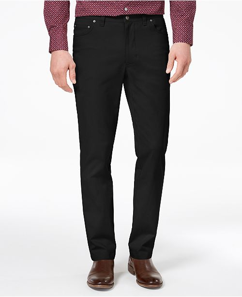 40f8697ab ... Tasso Elba Men's Straight-Fit Stretch Pants, Created for Macy's ...