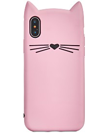 kate spade new york Silicone Cat iPhone X Case