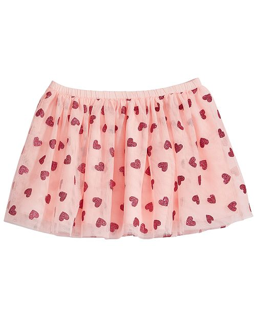 Epic Threads Heart-Print Skirt, Little Girls, Created for Macy's