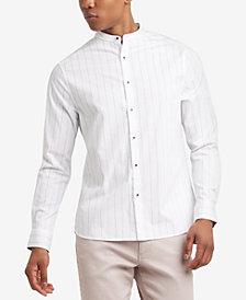 Kenneth Cole Reaction Men's Pinstripe Band-Collar Shirt