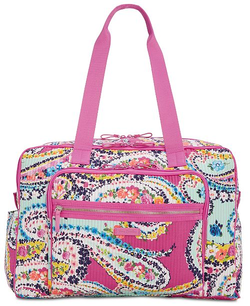 Vera Bradley Iconic Deluxe Extra-Large Weekender Travel Bag ... 7065e512ff