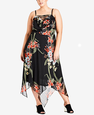 City Chic Trendy Trendy Plus Size Strappy Maxi Dress