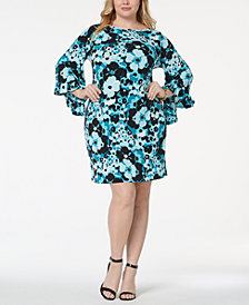 MICHAEL Michael Kors Plus Size Bell-Sleeve Shift Dress