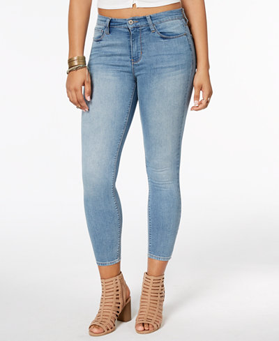 American Rag Juniors' High-Rise Cropped Skinny Jeans, Created for Macy's