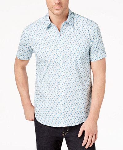 Con.Struct Men's Stretch Dinosaur-Print Shirt, Created for Macy's