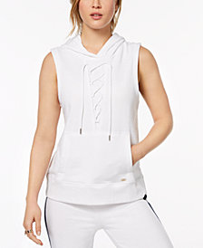 Tommy Hilfiger Sport Lace-Up Hoodie, Created for Macy's