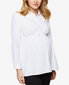 Motherhood Maternity Button-Front Babydoll Blouse