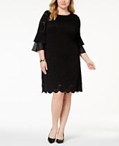 7140c97a16e7 Alfani Plus Size Ruffle-Cuff Floral-Lace Dress