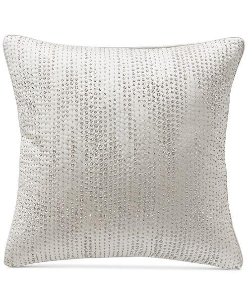 "Hotel Collection CLOSEOUT! Gilded Geo 20"" Square Decorative Pillow, Created for Macy's"