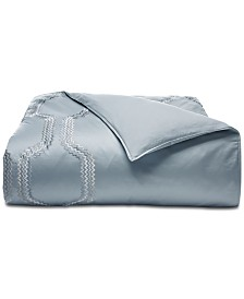 CLOSEOUT! Hotel Collection  Marquesa Geo Embroidered King Duvet Cover, Created for Macy's