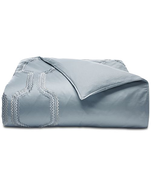 Hotel Collection CLOSEOUT!  Marquesa Geo Embroidered Full/Queen Duvet Cover, Created for Macy's