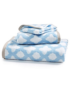 Martha Stewart Collection Cotton Tile Spa Fashion Hand Towel, Created for Macy's