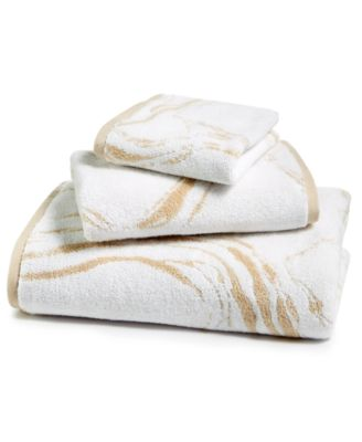 Marble Turkish Cotton Fashion Hand Towel, Created for Macy's