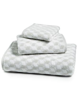 Cube Turkish Cotton Fashion Bath Towel, Created for Macy's