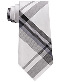 Kenneth Cole Reaction Men's Onyx Plaid Silk Tie