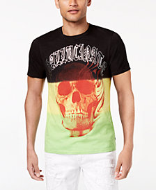 GUESS Men's Hallucinating Colorblocked Graphic-Print T-Shirt