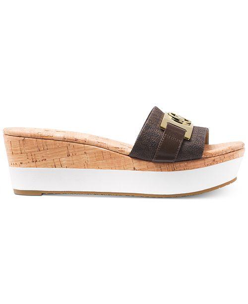 f70df2a421f Michael Kors Warren Platform Wedge Sandals   Reviews - Sandals ...