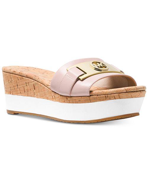 5b48a2abbfca Michael Kors Warren Platform Wedge Sandals   Reviews - Sandals ...