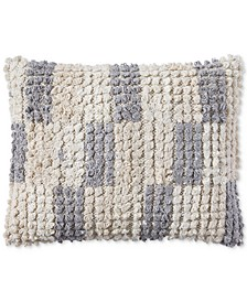 "Tuft Check 16"" x 20"" Decorative Pillow, Created for Macy's"