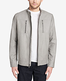 Calvin Klein Men's Faux-Leather Jacket