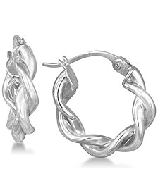 Giani Bernini Twisted Hoop Earrings in Sterling Silver, Created for Macy's