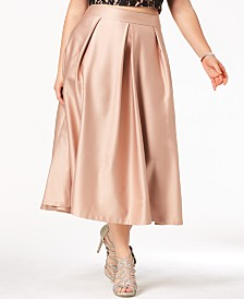 2fd5fcf38532d City Chic Trendy Plus Size Satin Midi Skirt