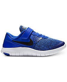Nike Little Boys' Flex Contact Stay-Put Closure Running Sneakers from Finish Line