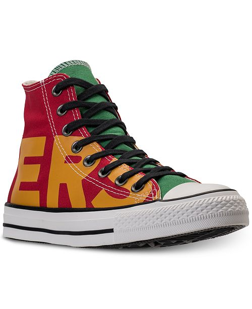 3913ad2c4d1 ... Converse Men s Chuck Taylor All Star Wordmark High Top Casual Sneakers  from Finish ...
