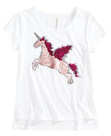 Beautees Reversible-Sequin Unicorn Top, Big Girls