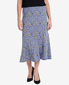 NY Collection Midi Skirt