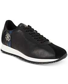 Roberto Cavalli Men's Leather Running Sneakers