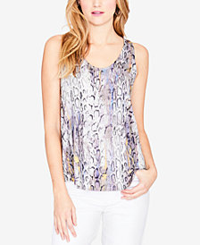 RACHEL Rachel Roy Printed Tie-Back Top, Created for Macy's