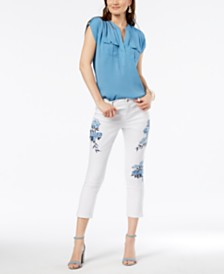 I.N.C. Utility Shirt & Cropped Jeans, Created for Macy's