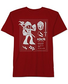 Ninja Graphic-Print Cotton T-Shirt, Big Boys