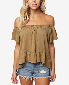 O'Neill Juniors' Farrah Off-The-Shoulder Top