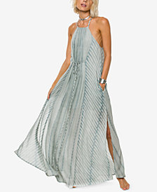 O'Neill Juniors' Lenore Printed Halter Maxi Dress