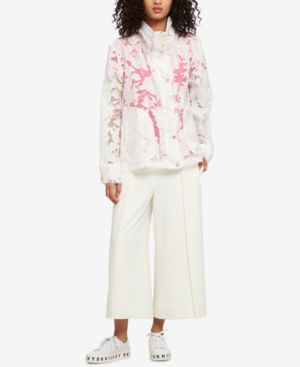 SHEER LACE JACKET, CREATED FOR MACY'S