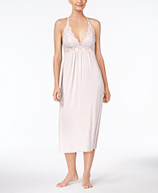 Thalia Sodi Lace-Trimmed Knit Nightgown, Created for Macy's