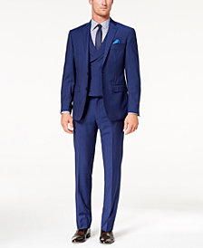 Tallia Orange Men's Slim-Fit Blue Stripe Vested Suit