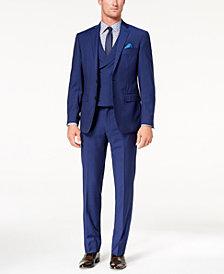 Tallia Orange Men's Slim-Fit Blue Stripe Vested Suit
