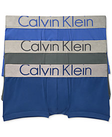 Calvin Klein Men's 3-Pk. Steel Low-Rise Trunks