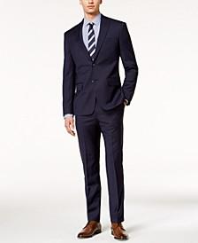Men's Modern-Fit Stretch Textured Suit Separates