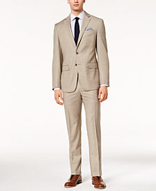 Tallia Orange Men's Modern-Fit Light Taupe Sharkskin Suit