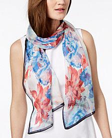 Calvin Klein Floral Vine Silk Scarf