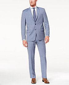 Lauren Ralph Lauren Men's Slim-Fit Ultraflex Stretch Light Blue Tic Suit Separates